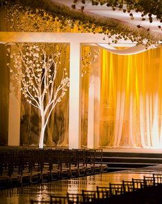 Wedding venue, draping hides a multitude of sins
