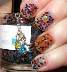 A-Ha (The Sixth Doctor) glitter nail polish 15 mL (.5 oz)