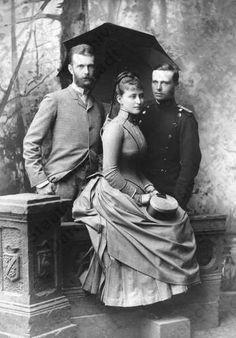Ella, Sergei and her brother Ernest