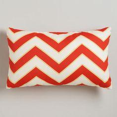 One of my favorite discoveries at WorldMarket.com: Warm Chevron Outdoor Lumbar Throw Pillow $27