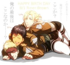 Aww but maybe bertolt and Reiner should switch places