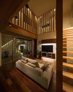 M4 House designed by Architect Show Co.  #luxury #luxuryhome #architect #luxuryhouse #arquitectura #luxurylife #luxurylifestyle #mansion #wood #mansionhouse #bighouse #bighouses #lights #homes #homesweethome #homestyle #homestead #homestyling #house #houses #architecture #architectureporn #design #modern #architects #casas #interior #interiordesign  All credits correspond to photographerdesignercreator - Architecture and Home Decor - Bedroom - Bathroom - Kitchen And Living Room Interior…