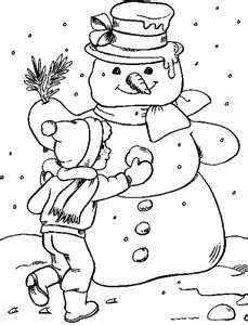 snowmen color book images