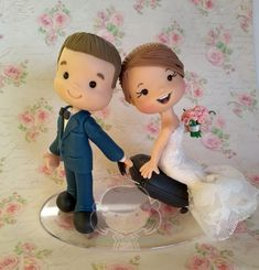 Clay Videos, Wedding Doll, Air Dry Clay, Cake Toppers, Dolls, Disney Princess, Disney Characters, Diy, Engagement