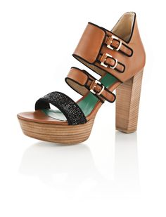 RHODORA C   High Cut Banded Sandal in Nappa and Kidsuede with Swarovski Crystal Rock     www.whoisschee.com  https://twitter.com/WhoIsSchee  https://www.facebook.com/whoisschee