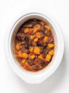 Boeuf asiatique à la mijoteuse Recettes   Ricardo - Pas de courges, plus de soya et une cuillère à soupe de hoisin.