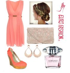 Princesa #coral #glamour #fiesta #outfit #fashion