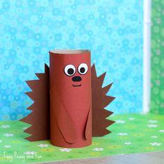 Hedgehog Paper Roll Craft for Kids