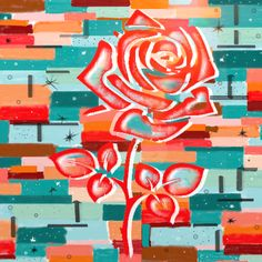 Rose de Mai - mixed media - mai 2021 Neon Signs, Abstract, Artwork, Tights, Canvases, Paint, Drawing Drawing, Summary, Work Of Art