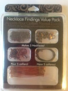 Necklace Findings Value Pack    New    by CynthiasCraftingNook