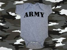 ARMY Baby Onesie-Infant Onesie-Military Onesie-Army Onesie-US Army Onesie-Infant Bodysuit-Creeper-Army-Army Shirt-AppleCopter Bodysuit on Etsy, $9.99