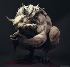 """Werewolf"" by Maria Panfilova Dark Fantasy, Fantasy Art, Werewolf Art, Vampires And Werewolves, Arte Horror, Creature Concept, Creature Design, Zbrush, Mythical Creatures"