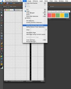 great tutorial on how to make digital paper in PSE