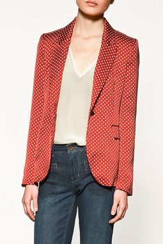 Zara Printed Blazer: I NEED more prints, no matter how subtle they are (do polka dots count as print? or just pattern?)