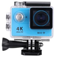 20 LCD 4K38402160 15fps 1080P 60fps Full HD Wifi APP 30M Waterproof 12MP Sports Action Camera DV 170 Wide Angle Lens Blue *** Check out this great product.