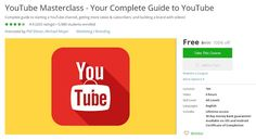 Coupon Udemy - YouTube Masterclass - Your Complete Guide to YouTube (100% Off) - Course Discounts & Free