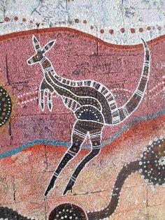 Original aboriginal art on a railway wall, along Eveleigh Street http://www.pinterest.com/stpaulshigh/aboriginal-art/
