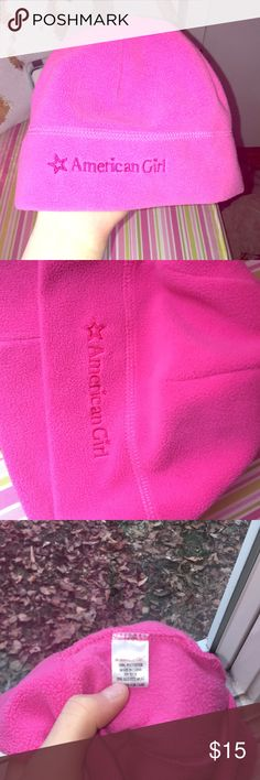 American Girl girls hat American Girl girls pink hat Super soft Never been worn 100% polyester perfect for a little girl on a cold day American Girl Accessories Hats