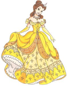Stunning redesign of Belle's most iconic dress, I love the addition of the fleur-de-lys motif. <3