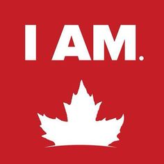 I am Canadian logo with maple leaf. The article is about words and phrases only used in Canada.