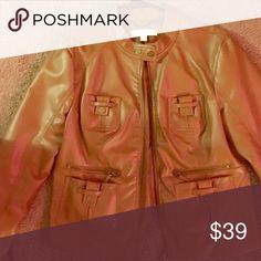 Faux leather jacket open 2 offers BNWT New York & Company Jackets & Coats Utility Jackets