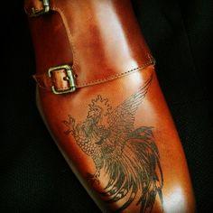 Mens Monk Strap Shoes, Real Tattoo, Shoe Last, Calf Leather, Calves, Oxford Shoes, Dress Shoes, Footwear, Man Shop