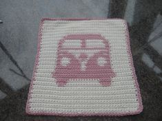 Crochet bamboo face cloth - vw camper van - Bamboo Face Cloths - Hand Crafted Products | Kats Fleece