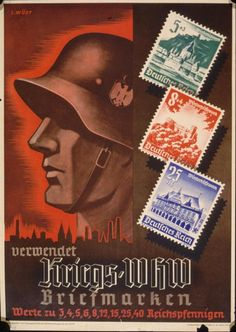 Verwendet Kriegs WHW Briefmarken . Herausgegeben vom Propaganda. Amt des Reichsbeauftragten fuer das WHW  https://sites.google.com/site/warrenbellauthor/home