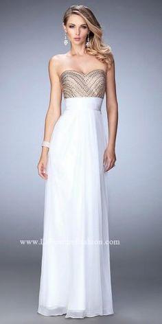 Double Strap Studded Prom Dress By La Femme  #dress #fashion #designer #lafemme #edressme