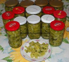 Salata de gogonele pentru iarna - Bunătăți din bucătăria Gicuței Canning Pickles, Rigatoni, Celery, Mason Jars, Cooking Recipes, Homemade Food, Sauces, Winter, Dresses