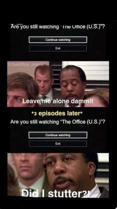 """Are you still watching """"The Office (U. Are you still watching """"The Office (U. The Office Fun Run, The Office Show, Michael Scott, Stupid Funny Memes, Funny Relatable Memes, Funny Stuff, Funny Things, Funny Drunk, Funny Memes"""