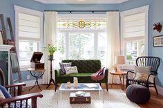 Pabla en casa: Una hermosa casa con un inesperado color en la cocina..........