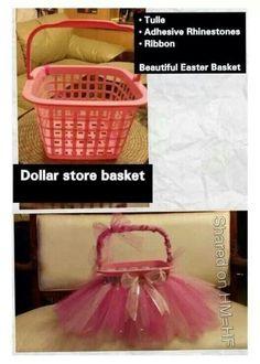 DIY tutu basket LOVE this