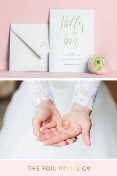 Gold Foil Wedding Invitations – Carnaby by The Foil Invite Company Luxury Wedding Invitations, Wedding Invitation Design, Gold Foil, Weddingideas, Invite, Color Schemes, Modern Design, Wedding Rings, Place Card Holders