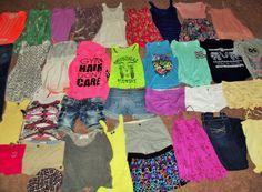Huge 40pc Spring Summer Clothing Lot Juniors Girls S/Med sz 2-3-4-5 Name Brands