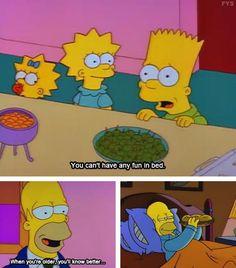 Fun in bed. Homer