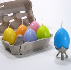 Easter Egg Candles By Craft Gossip -- see more at LuxeFinds.com