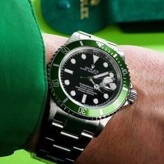 FAT 4 #kermit rolex 16610lv @thewatchclub by justarolex #rolex #submariner