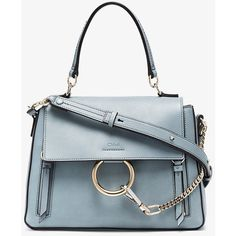 Chloé Blue Faye Small Leather Shoulder Bag ($1,785) ❤ liked on Polyvore featuring bags, handbags, shoulder bags, blue, fringe purse, suede fringe purse, blue shoulder bag, purse shoulder bag and blue suede purse