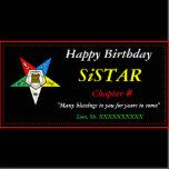 OES Order of the Eastern Star Happy Birthday Photo Card | Zazzle
