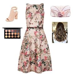 """""""Party Day"""" by gymnastmadeline ❤ liked on Polyvore featuring Ted Baker, Kendall + Kylie, Irregular Choice and MAC Cosmetics"""