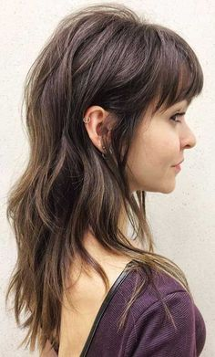 Want to shake your hair without a solitary stick, get some straight-cut or layered bangs. Here are layered haircuts with bangs in 20 pics! Black Hair Bangs, Bangs With Medium Hair, Cute Hairstyles For Medium Hair, Haircuts For Long Hair, Medium Hair Cuts, Medium Hair Styles, Cool Hairstyles, Short Hair Styles, Red Bangs