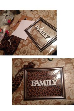 Diy Family Frame With A Leopard Print Background To Make The Family Pop Cheetah Bedroomsafari