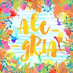 COLEÇÃO | COISAS BOAS - Larissa Grace - Lettering aquarelado ALEGRIA