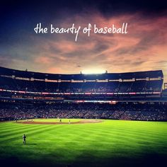 "Just a pretty picture to start your day. ""The beauty of baseball."""
