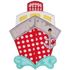 Boat 4 Applique - Planet Applique Inc Embroidery Monogram, Machine Embroidery Applique, Embroidery Fonts, Embroidery Machines, Embroidery Ideas, Nautical Quilt, Sewing Projects, Projects To Try, American Quilt