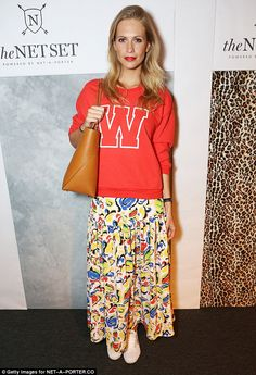 W for wild night out! Poppy Delevingne wears initial sweater #dailymail