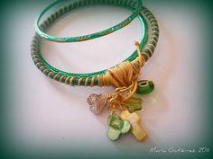 "Pulseras ""Guindalejos"" Bracelets, Jewelry, Gifs, Lanyards, Bias Tape, Bangle Bracelets, Jewelery, Accessories, Bangles"