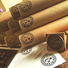 The lovely folk at http://posteritty.com/ order a stamp from us for their postal tubes.  We think it works so well!