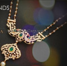 Jewellery Designs: Simple Pearls Chain with Pendant Pearl Jewelry, Antique Jewelry, Gold Jewelry, Beaded Jewelry, Jewelry Necklaces, Delicate Necklaces, Jewelry Shop, Indian Wedding Jewelry, Indian Jewelry